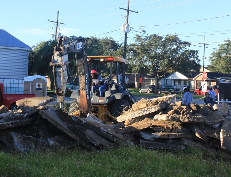 UST Closure Concrete Pile